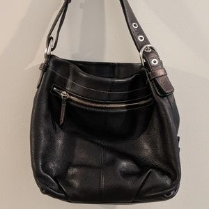 Large Coach purse - Authentic - Black Leather